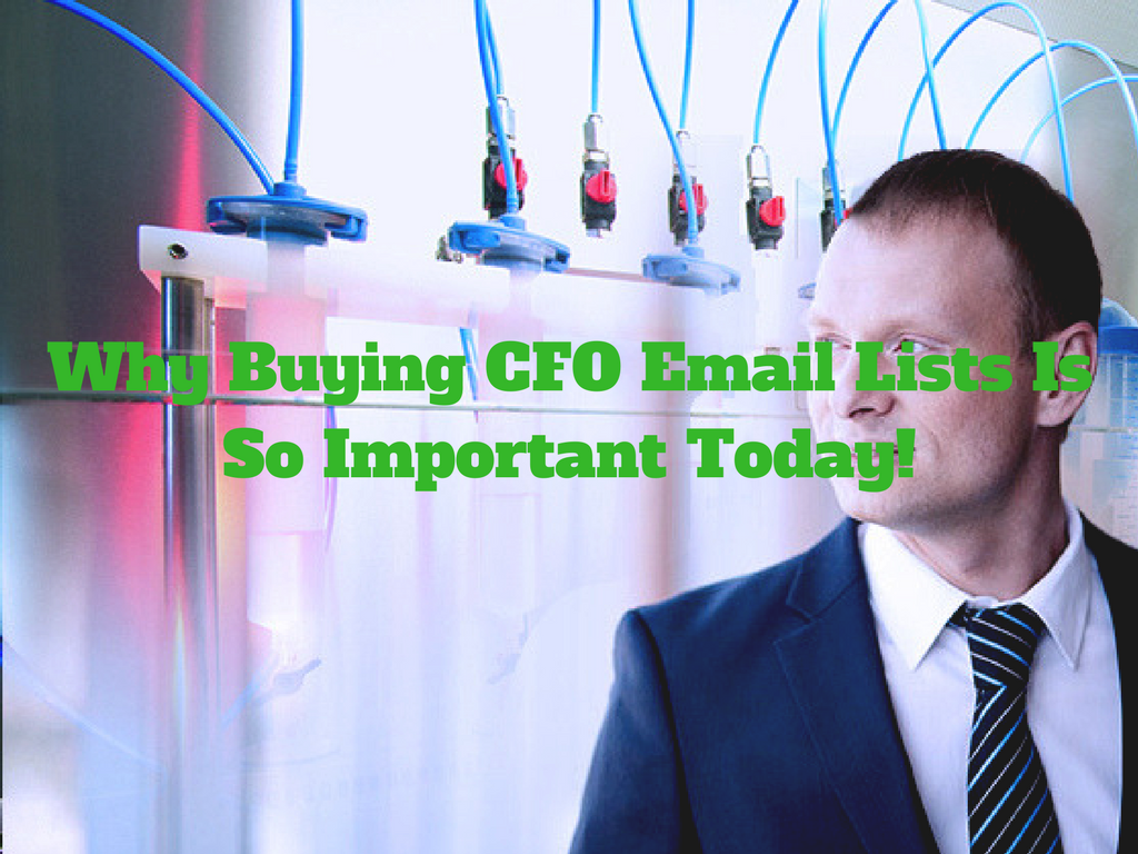 CFO Email Lists Is So Important Today! | CFO email lists
