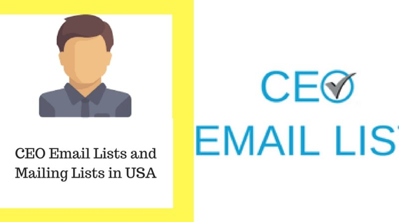 CEO Email Lists and Mailing Lists in USA