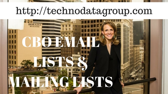 CBO EMAIL LISTS & MAILING LISTS