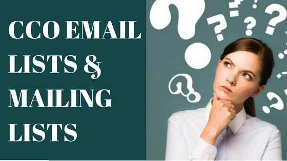 CCO EMAIL LISTS & MAILING LISTS