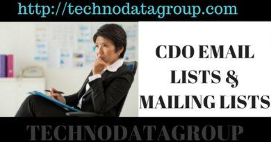 CDO EMAIL LISTS & MAILING LISTS