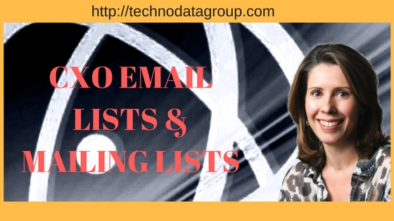 CXO EMAIL LISTS & MAILING LISTS