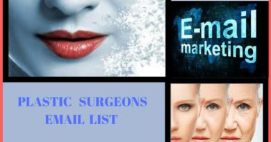 Plastic Surgeons Email List