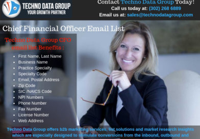 Why Techno Data Group is the best source to buy CFO Email Lists?